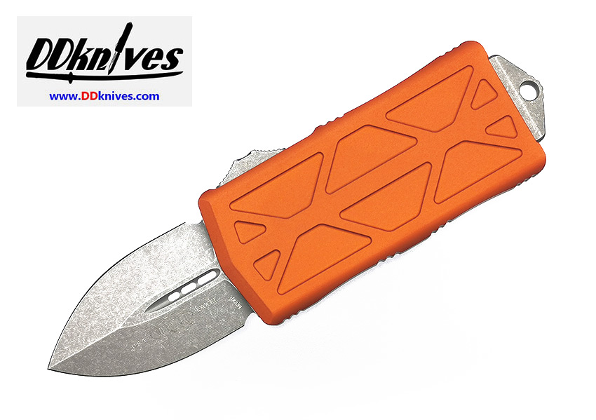 มีดออโต้ Microtech Exocet Dagger OTF Automatic Knife Apocalyptic Blade, Orange Handles (157-10APOR)
