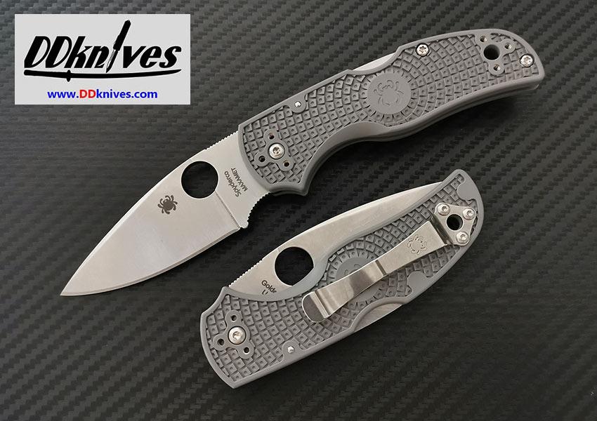 มีดพับ Spyderco Native 5 Lightweight Maxamet Satin Plain Blade, Gray FRN Handles (C41PGY5)