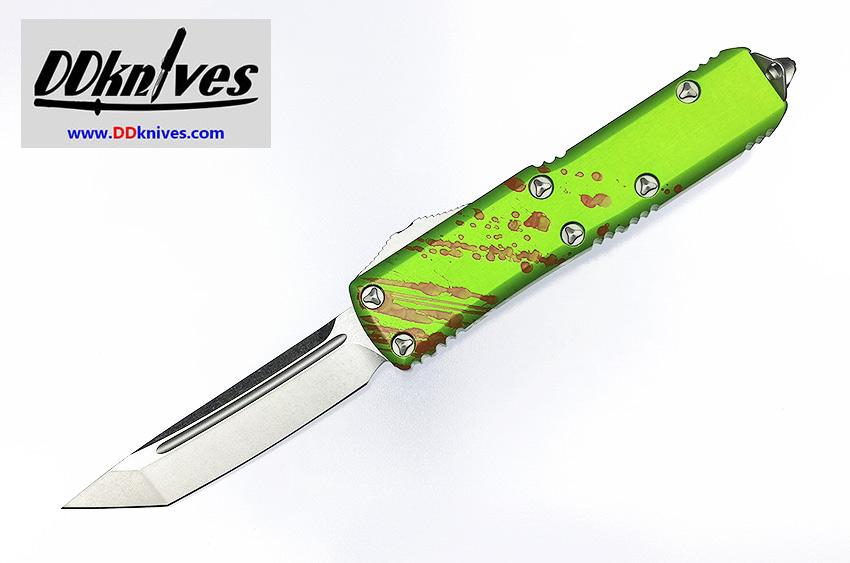 มีดออโต้ Microtech UTX-85 Zombie Tech T/E OTF Automatic Knife Stonewash Blade (233-10Z)