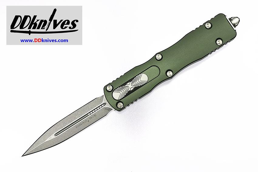 มีดออโต้ Microtech Dirac D/E OTF Automatic Knife Stonewash Blade, OD Green Handles (225-10OD)