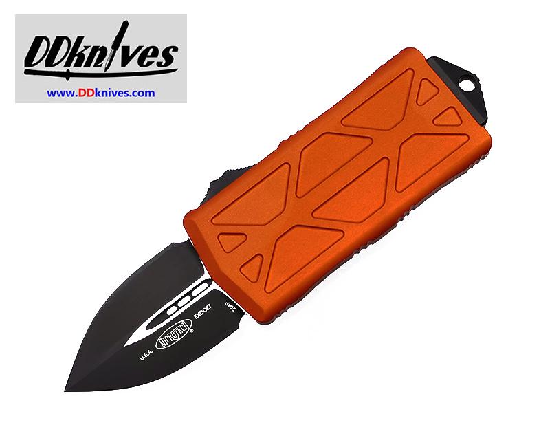 มีดออโต้ Microtech Exocet Dagger OTF Automatic Knife Black Blade, Orange Handles (157-1OR)