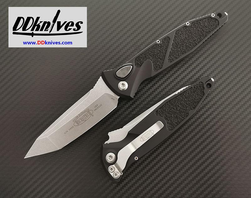 มีดออโต้ Microtech Socom Elite T/E Automatic Knife Stonewash Blade, Black Handles (161A-10)