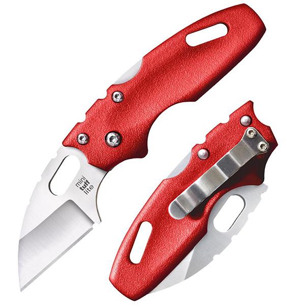 มีดพับ Cold Steel Mini Tuff Lite Folding Knife Wharncliffe Blade, Red Griv-Ex Handles (20MTR)