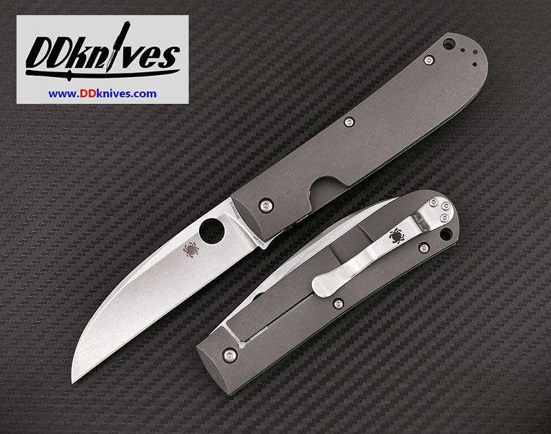 มีดพับ Spyderco SwayBack Folding Knife CTS-XHP Stonewashed Blade, Titanium Handles (C249TIP)