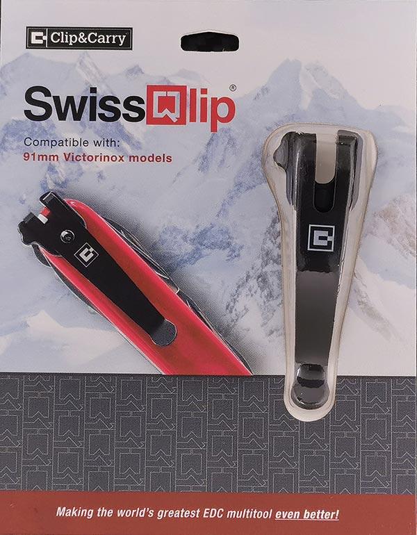 คลิปเหน็บ SwissQlip - Swiss Army Knife Pocket Clip, Black