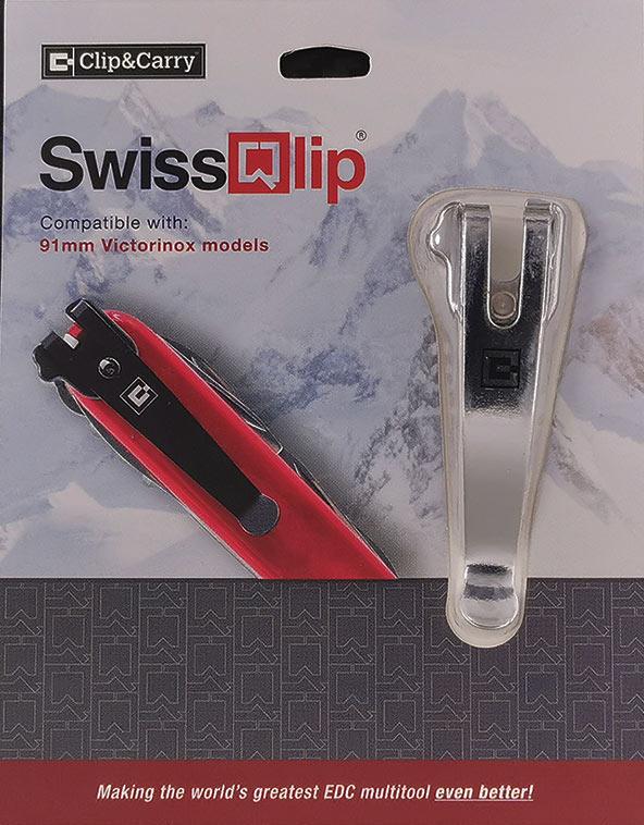 คลิปเหน็บ SwissQlip - Swiss Army Knife Pocket Clip, Silver