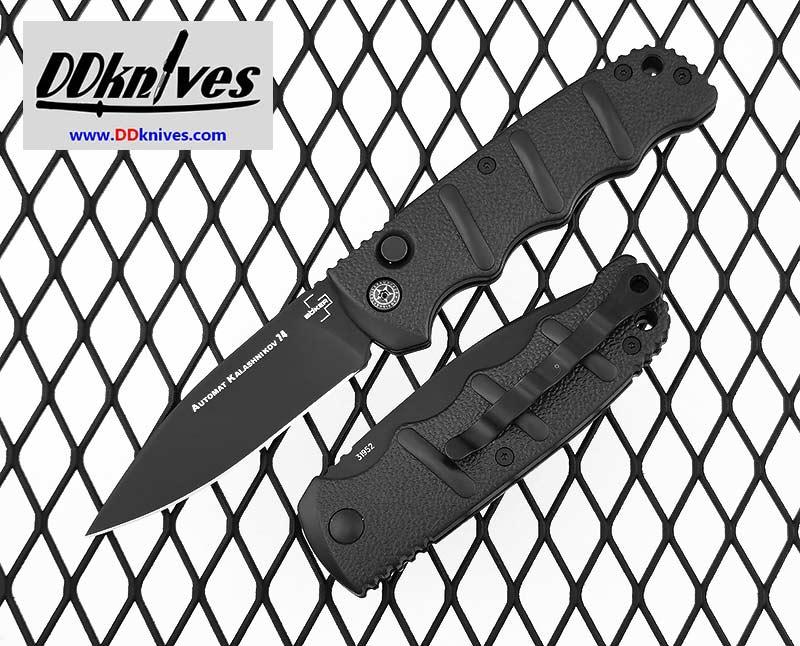 มีดออโต้ Boker Kalashnikov 74 Automatic Knife Black Blade, Black Aluminum Handles (01KALS74BK)