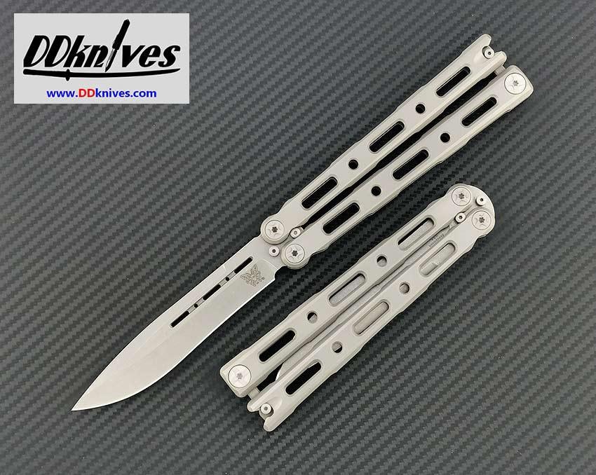 มีดบาลิซอง Benchmade 85 Ti Balisong CPM-S30V Drop Point Blade, Titanium Handles