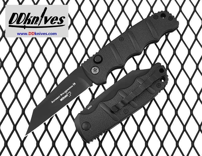 มีดออโต้ Boker Kalashnikov 74 Automatic Knife Black Blade, Black Aluminum Handles (01KALS74FN)