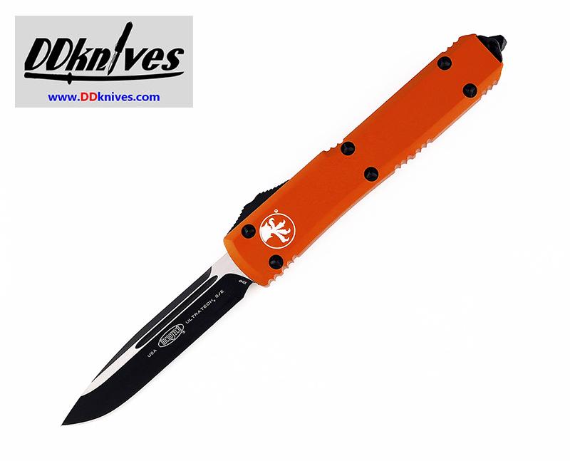 มีดออโต้ Microtech Ultratech S/E OTF Automatic Knife Black Blade, Orange Handles (121-1OR)