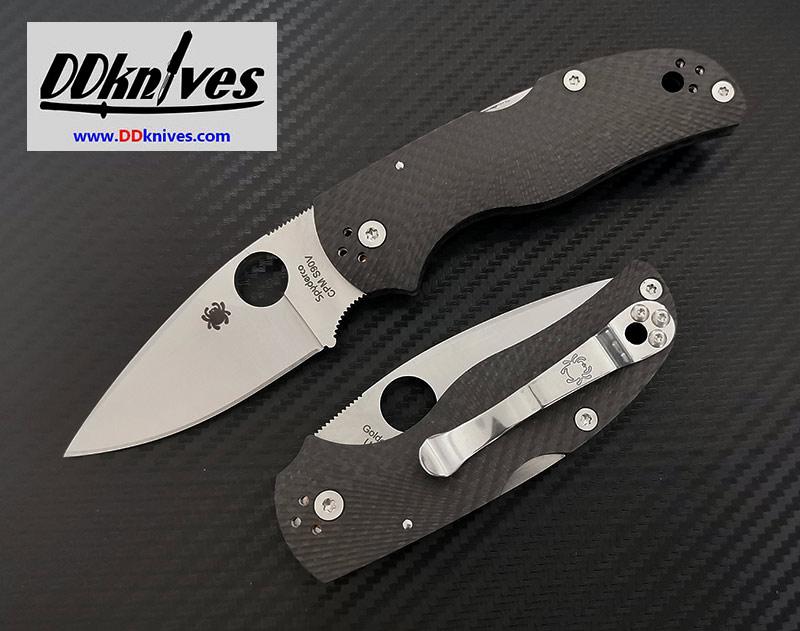 มีดพับ Spyderco Native 5 Folding Knife S90V Plain Blade, Fluted Carbon Fiber Handles (C41CFFP5)