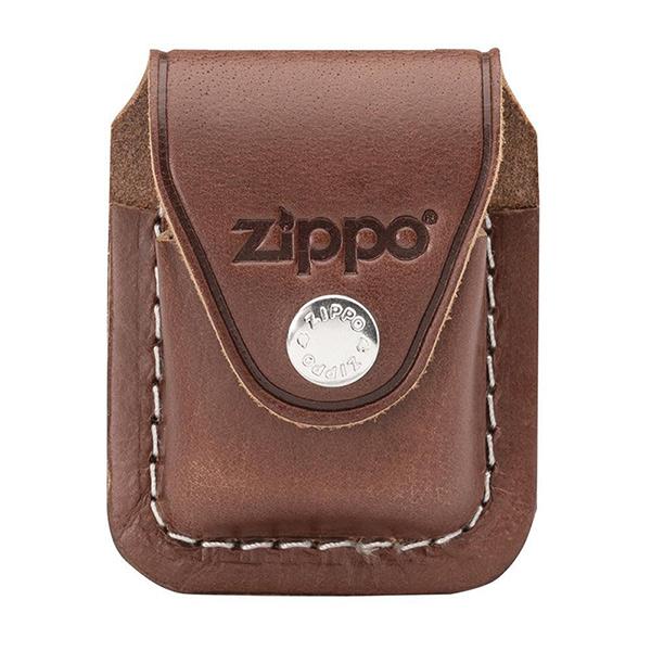 ซองหนังใส่ไฟแช็ค Zippo Lighter Pouch with clip Brown (LPCB)