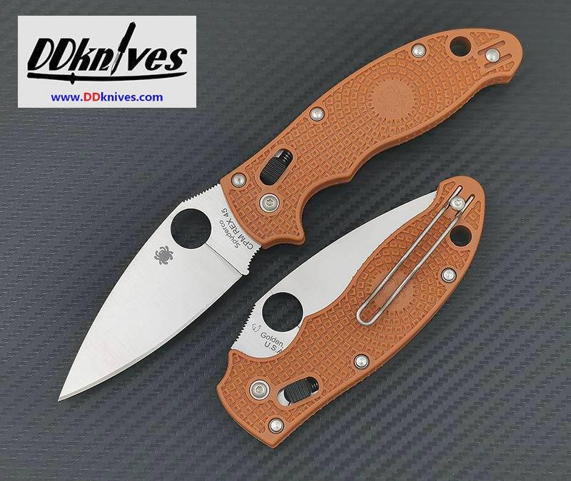 มีดพับ Spyderco Manix 2 Lightweight CPM-REX 45 Blade, Burnt Orange Handles, Sprint Run (C101PBORE2)