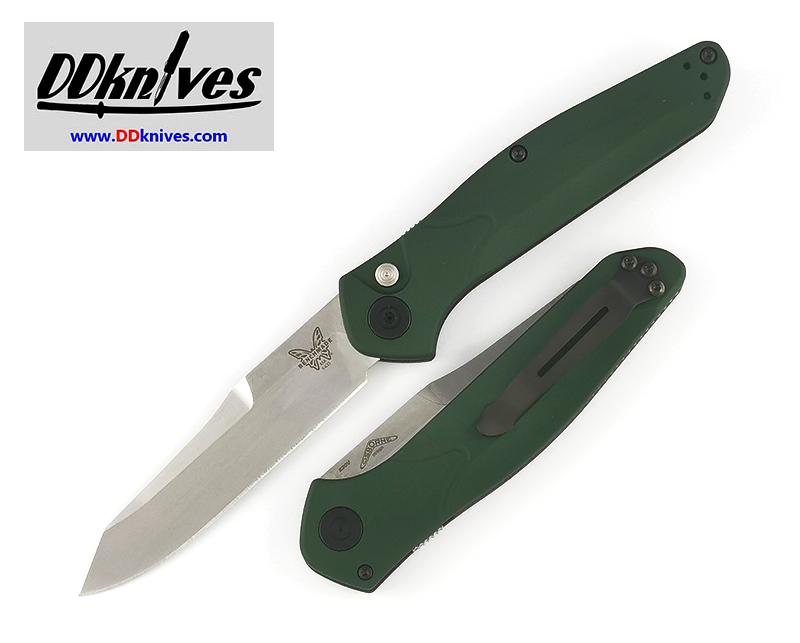 มีดออโต้ Benchmade Osborne AUTO Folding Knife S30V Satin Plain Blade, Green Aluminum Handles (9400)