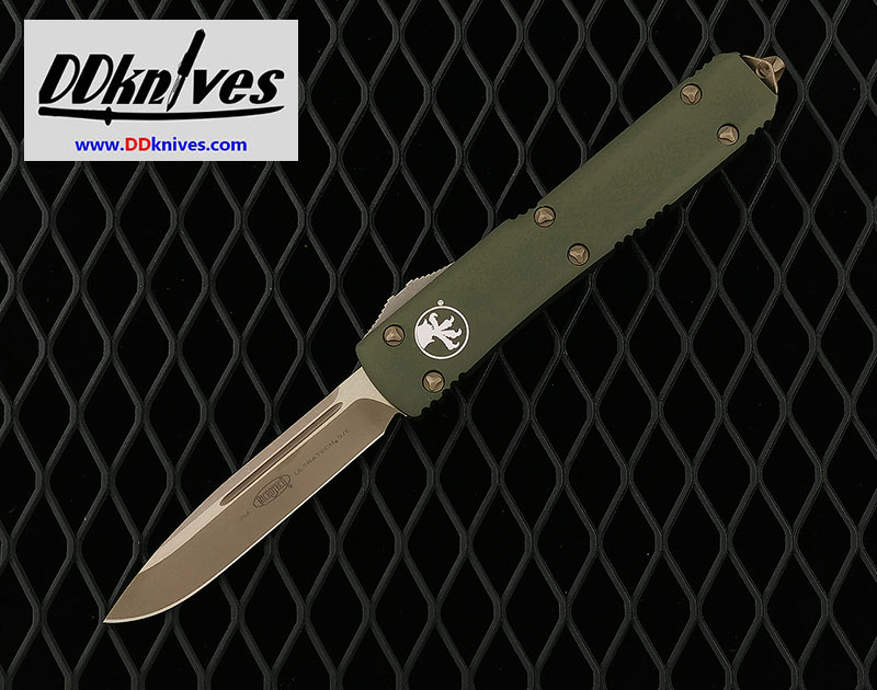 มีดออโต้ Microtech Ultratech S/E OTF Auto Knife Bronze Blade, OD Green Handles (121-13APOD)