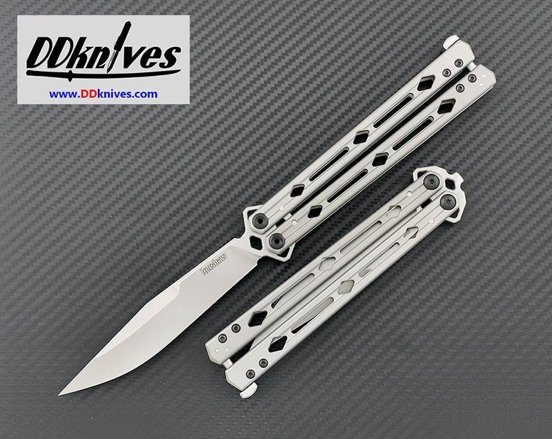 มีดบาลิซอง Kershaw Lucha Balisong Butterfly Knife, Stonewashed Stainless Steel Handles (5150)