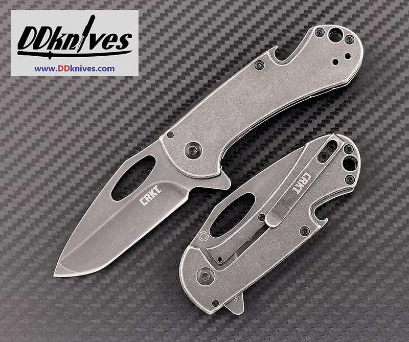 มีดพับ CRKT Bev-Edge Black Flipper Knife Black Stonewashed Tanto Blade (4635)