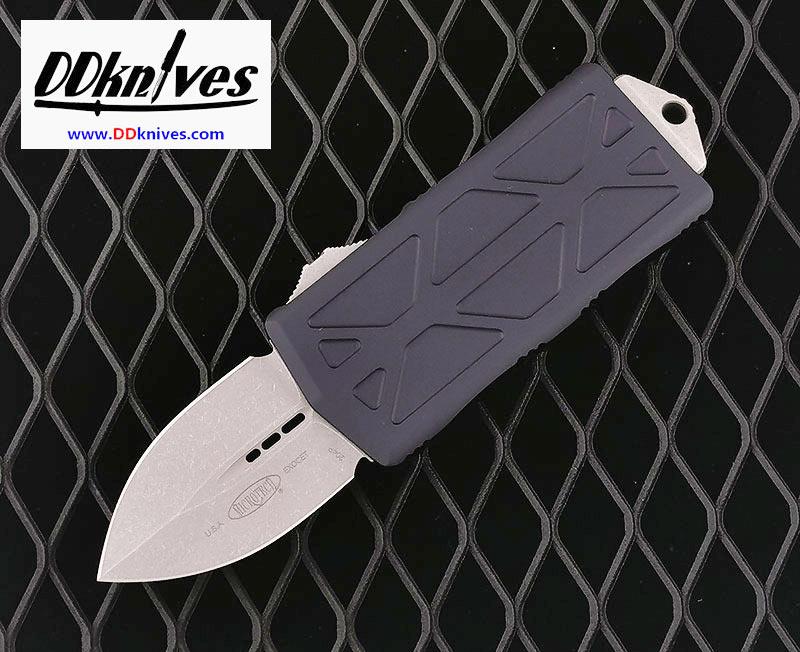 มีดออโต้ Microtech Exocet Dagger OTF Automatic Knife Apocalyptic Blade, Black Handles (157-10AP)