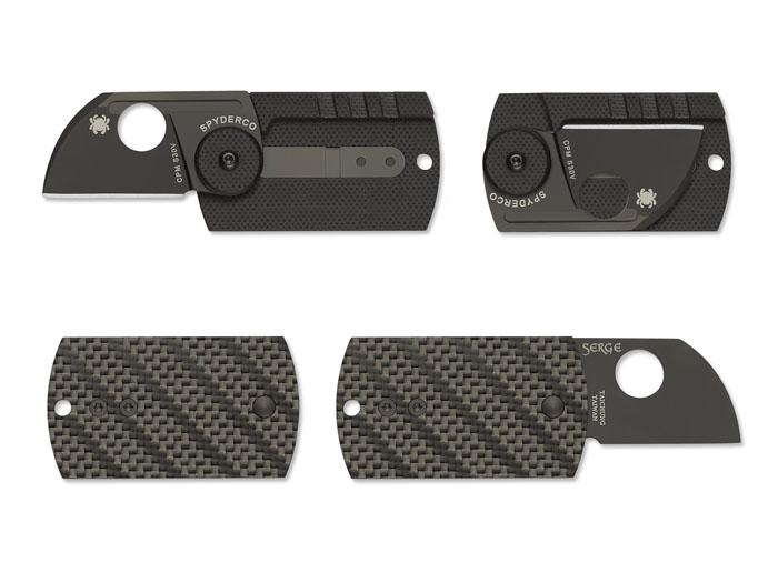 มีดห้อยคอ Spyderco Serge Panchenko Dog Tag S30V Blade, Carbon Fiber and G10 Handles (C188CFBBKP)