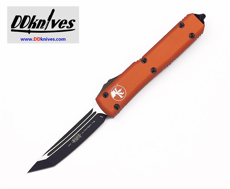 มีดออโต้ Microtech Ultratech T/E OTF Automatic Knife Black Blade, Orange Handles (123-1OR)