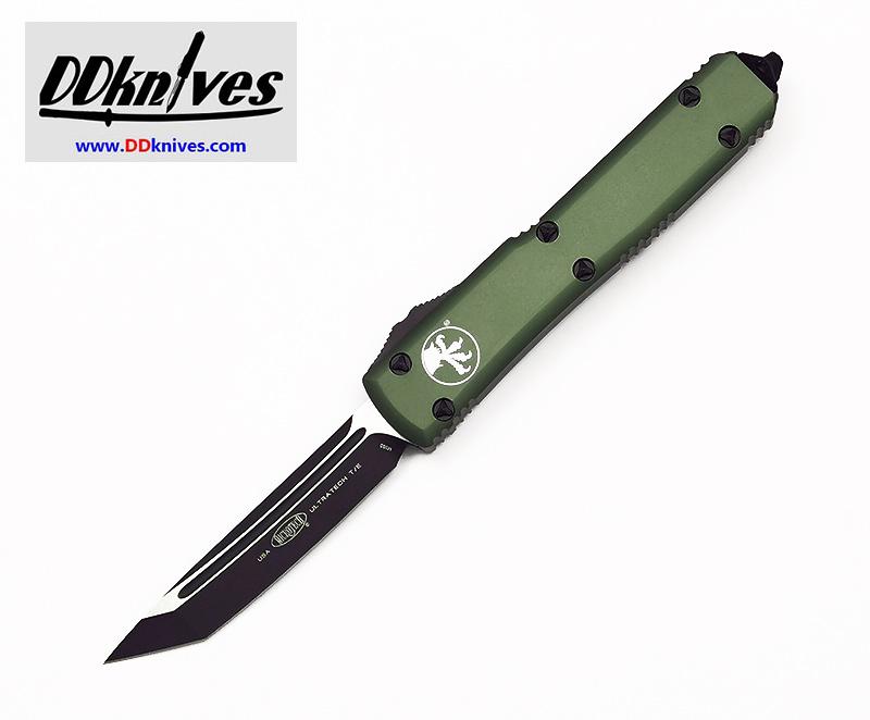 มีดออโต้ Microtech Ultratech T/E OTF Automatic Knife Black Blade, OD Green Handles (123-1OD)