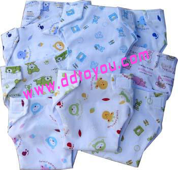 กางเกงผ้าอ้อมซักได้  รุ่น N101+ แบบหนา size S ( แรกเกิด-10ก.ก.) แพ็ค 6 ตัว