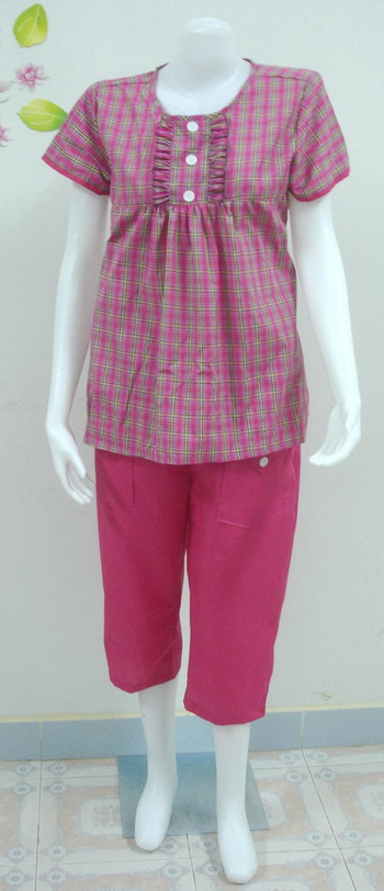 ชุดคลุมท้อง เสื้อ+กางเกงคลุมท้อง (d003)