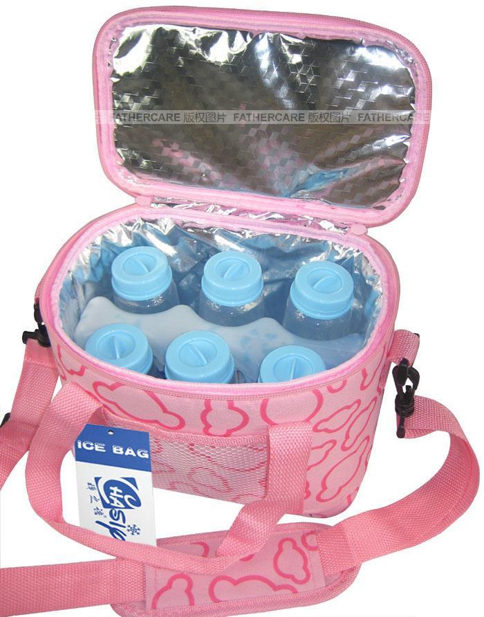 กระเป๋าเก็บความเย็น +ก้อนน้ำแข็งเทียม  เก็บความเย็นได้นานขึ้น ถึง 8 ชม.
