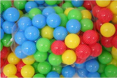ลูกบอล ชุด 100 ลูก พลาสติกอย่างดี ปลอดภัยกับลูกน้อย