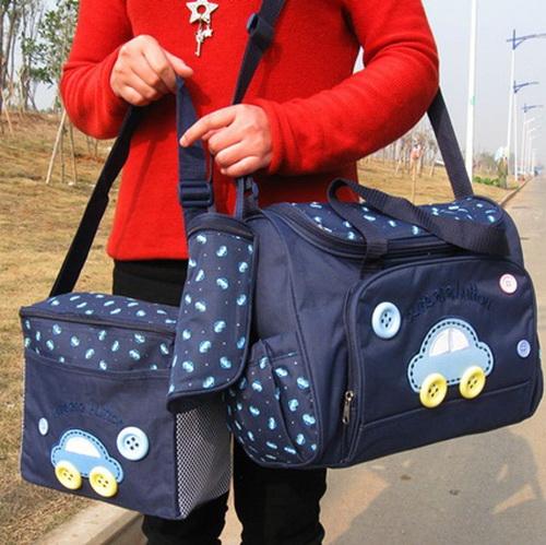 กระเป๋าเก็บเครื่องปั๊มนม สัมภาระคุณแม่ เซต 3 ใบ ยี่ห้อ MotherCare ราคาถูกที่สุด สีน้ำเงิน