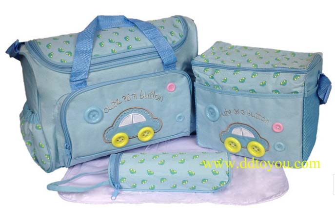 กระเป๋าเก็บเครื่องปั๊มนม สัมภาระคุณแม่ เซต 3 ใบ ยี่ห้อ MotherCare ราคาถูกที่สุด สีฟ้า