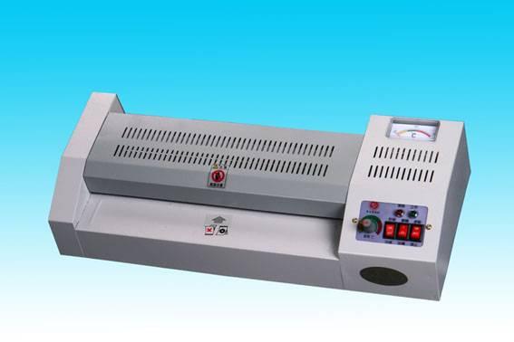 เครื่องเคลือบบัตรพลาสติก Laminator ร้อน เย็น A3 4 ลูกรีด สำหรับทำบัตรพลาสติก