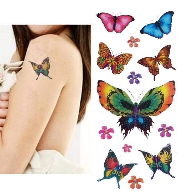 รับทำ สติ๊กเกอร์ Tattoo sticker พิมพ์ 4 สี 100 ดวงขึ้นไป งานด่วน