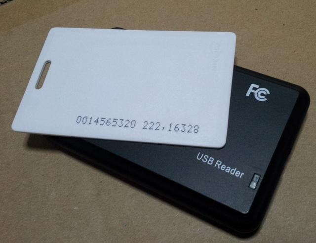 เครื่องอ่าน เขียน บัตรทาบ Proximity 125khz read /write 1