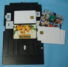 Tray ใส่พิมพ์บัตร สำหรับ printer R230 ใช้พิมพ์บัตรพลาสติก inkjet แบบง่ายๆ