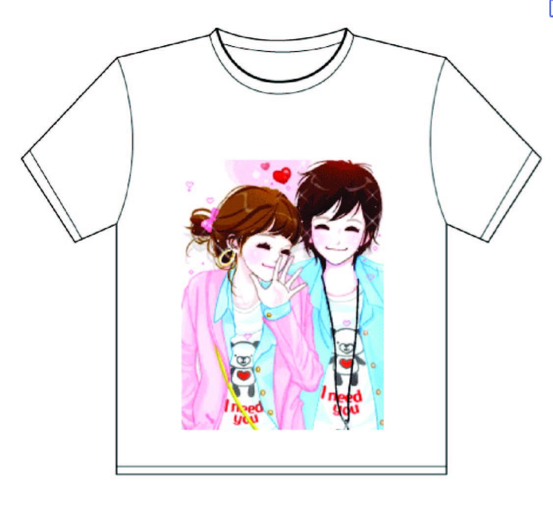 เสื้อยืดสีขาว สำหรับพิมพ์ภาพ สกรีน ภาพโฆษณา ลงบนเสื้อ สีสวยสด ติดทนนาน ซักได้ภาพไม่เจือจาง