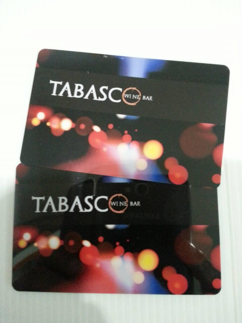 บัตรพลาสติกพีวีซี บัตรสมาชิก บัตรส่วนลด บัตรโปรโมชั่น 4 สี 2 หน้า