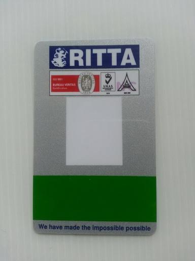 บัตรพนักงาน บัตรพลาสติกพีวีซี บัตรสมาชิก บัตรส่วนลด 4 สี 2 หน้า