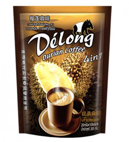 กาแฟผสมทุกเรียน หอมกลิ่นทุเรียนไทยแท้ รสชาติกาแฟเข้มข้น บรรจุ 10 ซอง