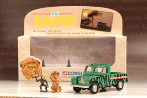 รถเหล็ก Corgi Classic No.07104 Daktari Land Rover  Figures