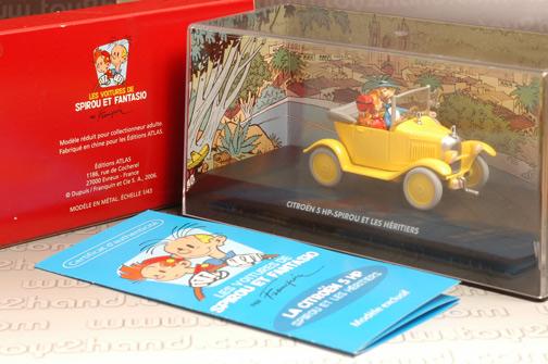 รถเหล็ก Editions Atlas No.2674002 1921 Citroen 5HP จากการ์ตูน Spirou และ Fantasio 1