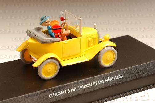 รถเหล็ก Editions Atlas No.2674002 1921 Citroen 5HP จากการ์ตูน Spirou และ Fantasio 3