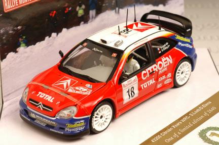 รถเหล็ก Vitesse No.43200 Citroen XSARA WRC, S. Loeb/D.Eleena, ist Monte Carlo Rally 2003