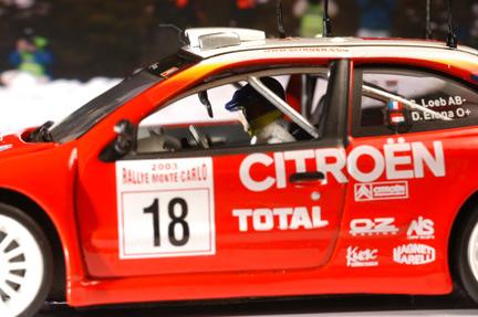รถเหล็ก Vitesse No.43200 Citroen XSARA WRC, S. Loeb/D.Eleena, ist Monte Carlo Rally 2003 2