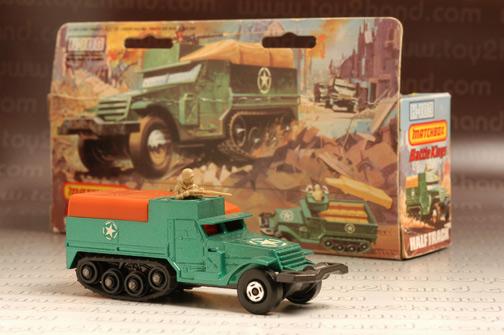 รถเหล็ก Matchbox Battle King No.K108A - M3A1 Half Track