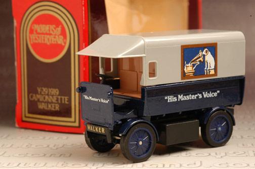รถเหล็ก Matchbox Models of Yesteryear No.Y29 - 1919 Walker Electric Van