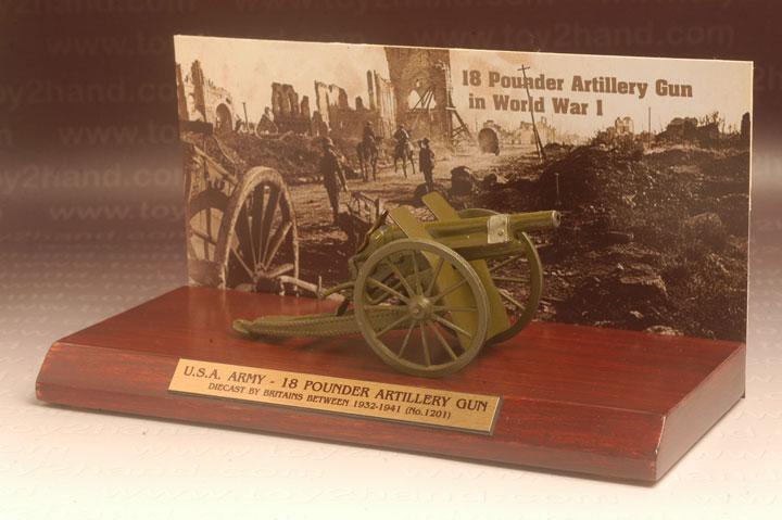 ปืนใหญ่ Britains No.1201 – 18 Pounder Artillery Gun (Royal and US. Army)