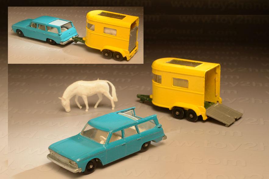รถเหล็ก Matchbox Regular Wheels No42B Studebaker Station Wagon และ No.43C Pony Trailer