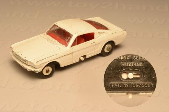 รถเหล็ก Matchbox Regular Wheels No 8E Ford Mustang