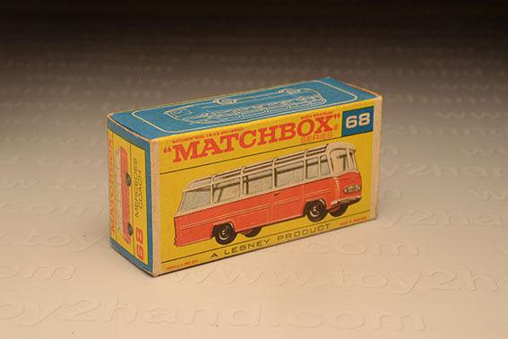 กล่องเปล่า Matchbox Regular Wheels No. 68 Mercedes Coach